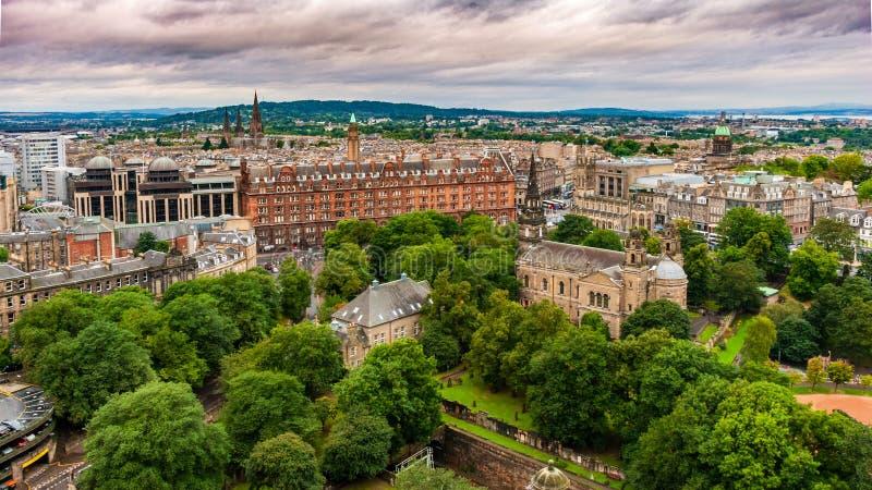 Een mening van het Kasteel van Edinburgh van Edinburgh - Schotland royalty-vrije stock afbeelding