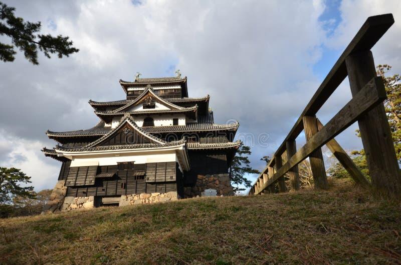 Een mening van het kasteel van Matsue in Matsue stock foto