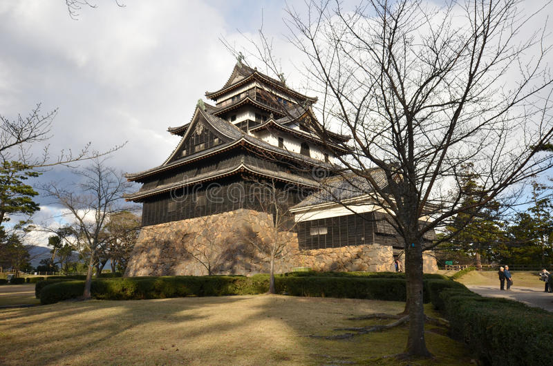 Een mening van het kasteel van Matsue in Matsue stock fotografie