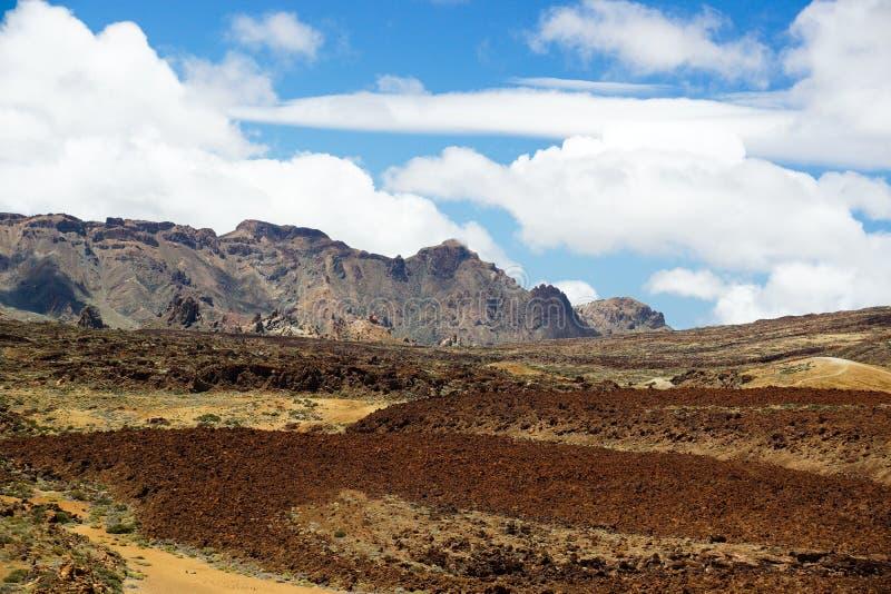 Een mening van het Nationale Park van Teide in Tenerife, Spanje royalty-vrije stock foto's