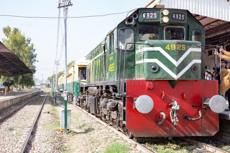 Een mening van het Spoor van Pakistan en KPK-de overheid schikken het voor Azadi royalty-vrije stock fotografie