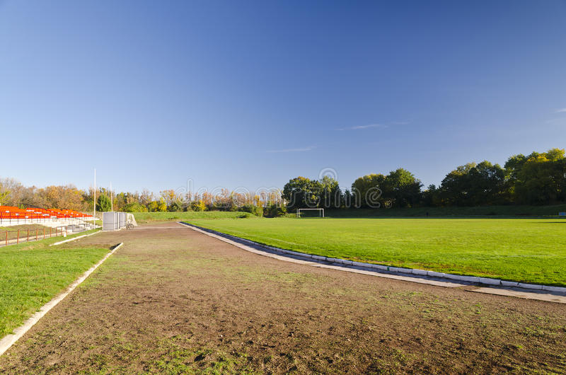 Een mening van het Stadion stock afbeelding