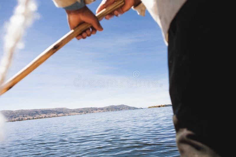 Een mening van het Titicaca-Meer stock fotografie
