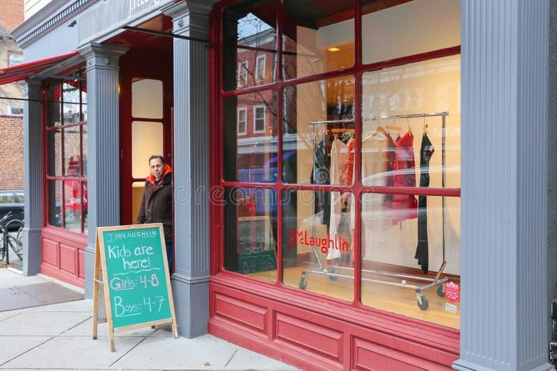 Een mening van Nassau Straat in Princeton stock foto