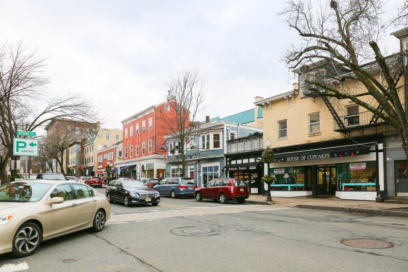 Een mening van Nassau Straat in Princeton royalty-vrije stock fotografie
