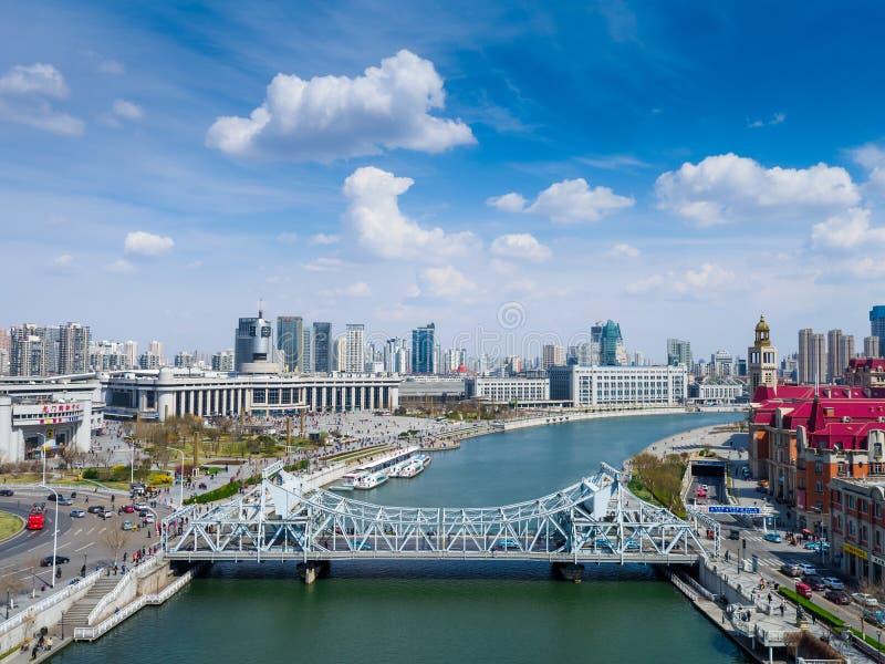 Een mening van Tianjin stock foto