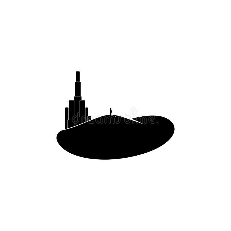 een mens die het stadspictogram bekijken Element van parken en landschapspictogram Één van het inzamelingenpictogram voor website vector illustratie