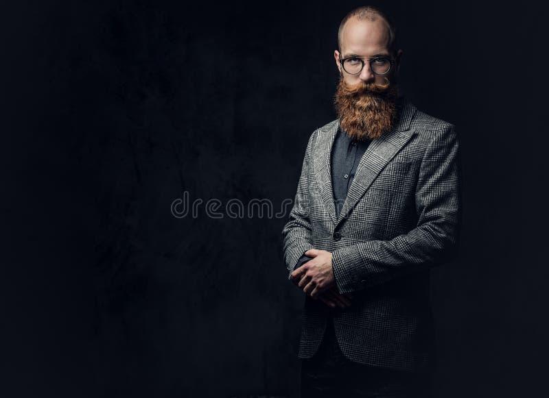 Een mens kleedde zich in een kostuum stock fotografie