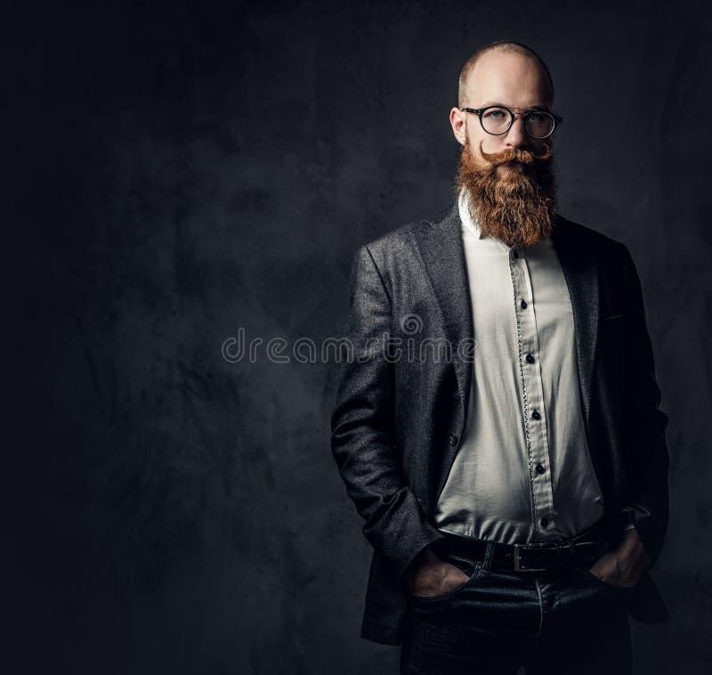 Een mens kleedde zich in een kostuum royalty-vrije stock foto's