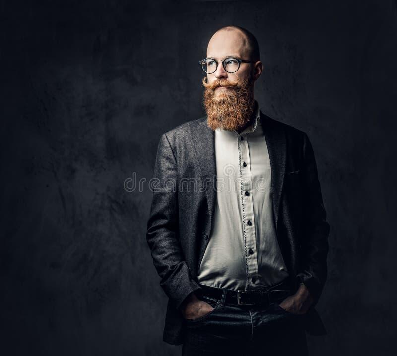 Een mens kleedde zich in een kostuum royalty-vrije stock fotografie