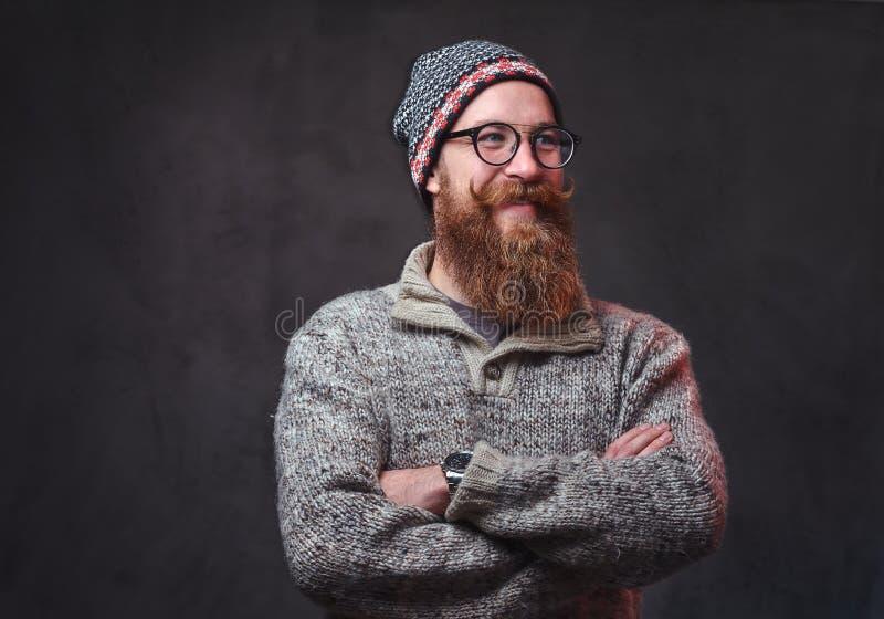Een mens met rode baard royalty-vrije stock afbeelding