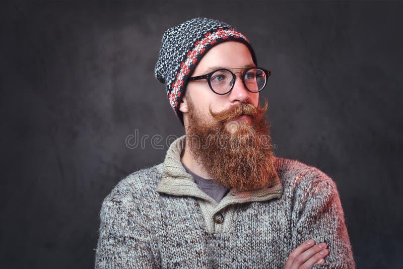 Een mens met rode baard royalty-vrije stock fotografie