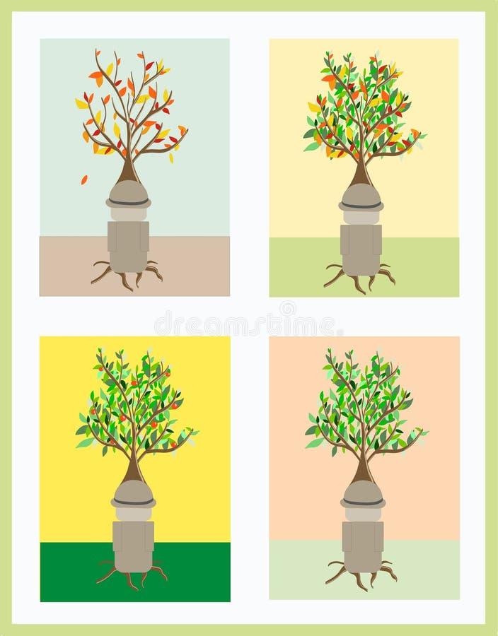 Een mens zoals een boom stock foto's