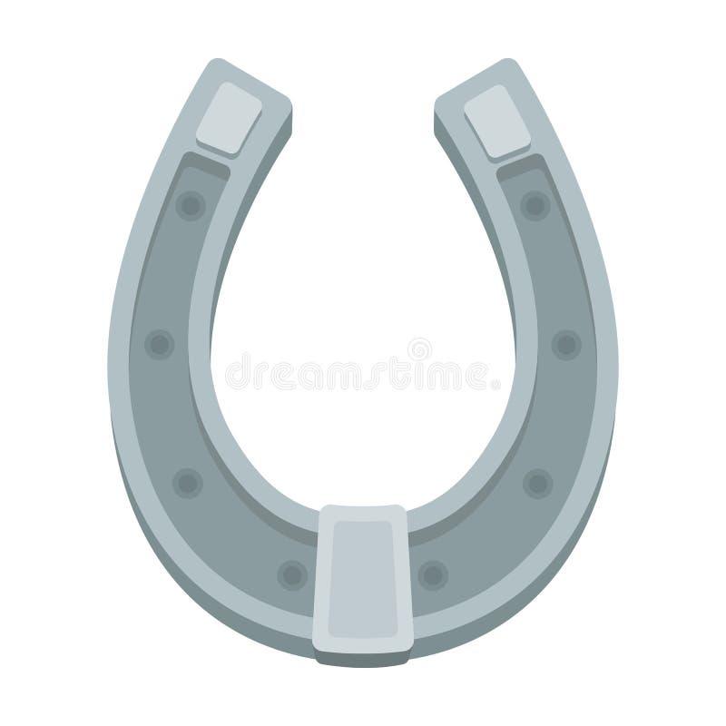 Een metaalhoef voor paarden Schoenen voor paarden om hoeven te beschermen Landbouwbedrijf en het tuinieren enig pictogram in de v vector illustratie