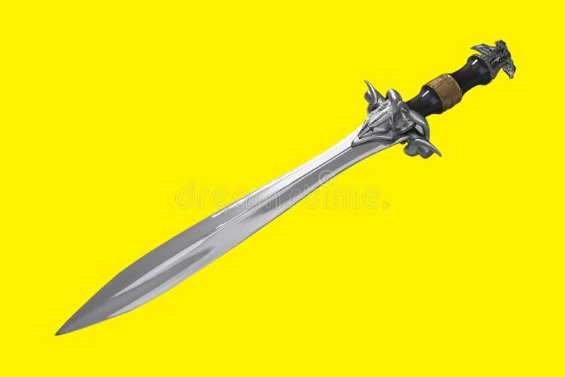 Een mettalic zwaard stock foto