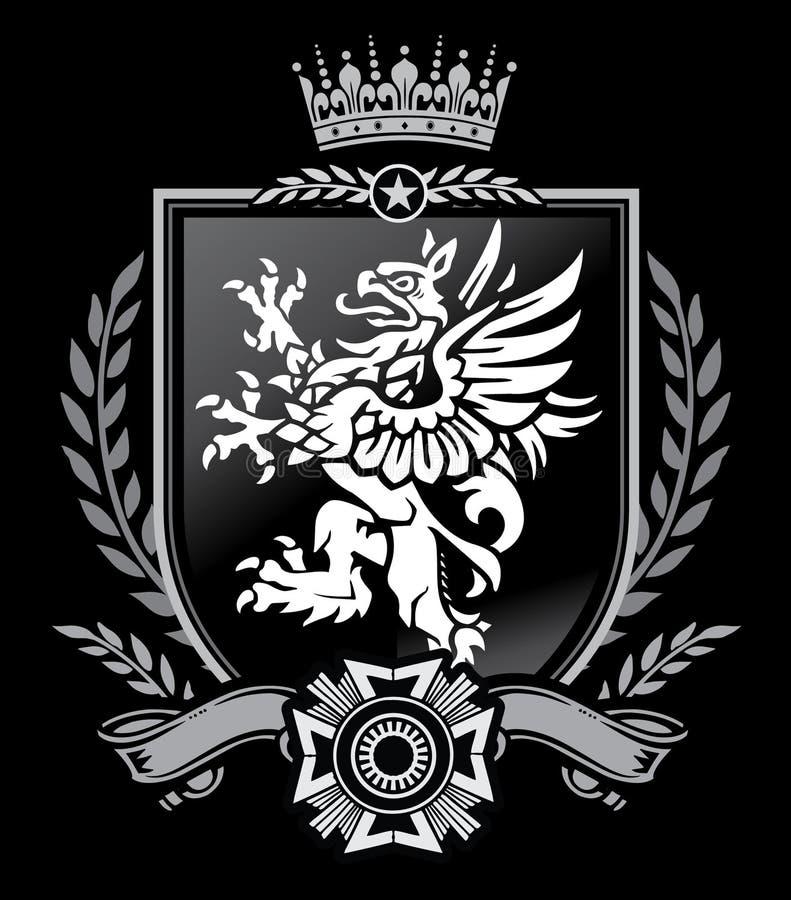 CREST van de griffioen royalty-vrije illustratie