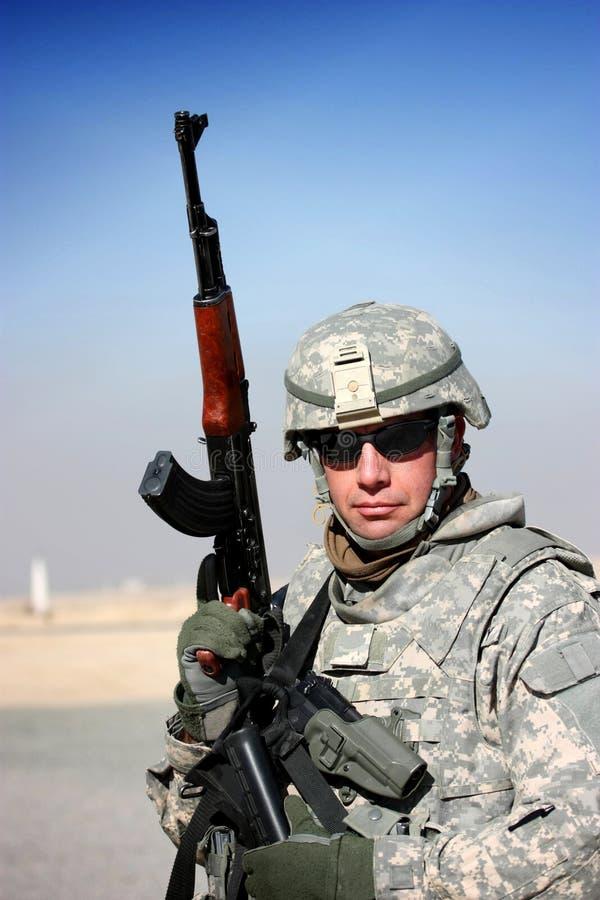 Een militair van de V.S. stock afbeeldingen