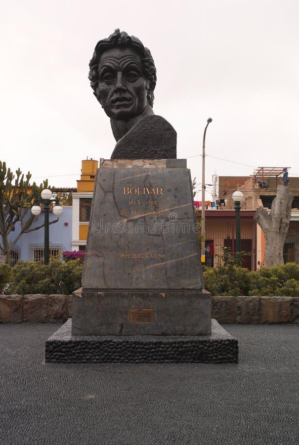 Een Mislukking van Simon Bolivar in Lima, Peru stock afbeeldingen