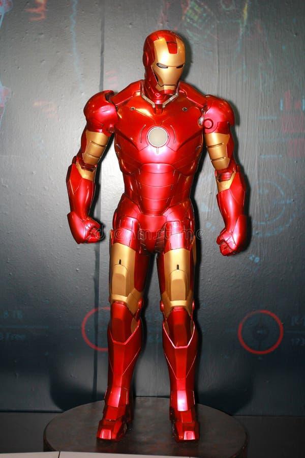 Een model van de Man van het karakterijzer van films en strippagina 4 stock afbeelding