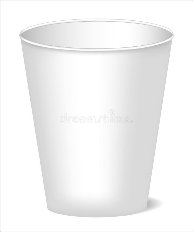 Een model van een document kop met realistische schaduw voor koffie, thee, dranken, water Kan als malplaatje voor ontwerp worden  stock illustratie