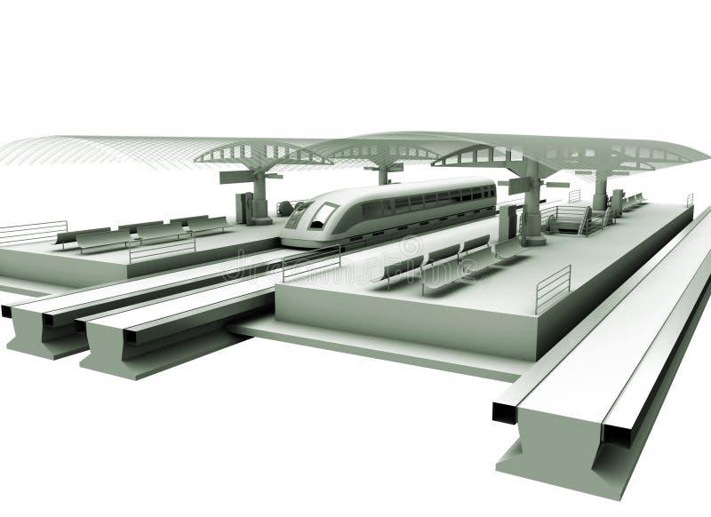 Een modern Station royalty-vrije stock afbeeldingen