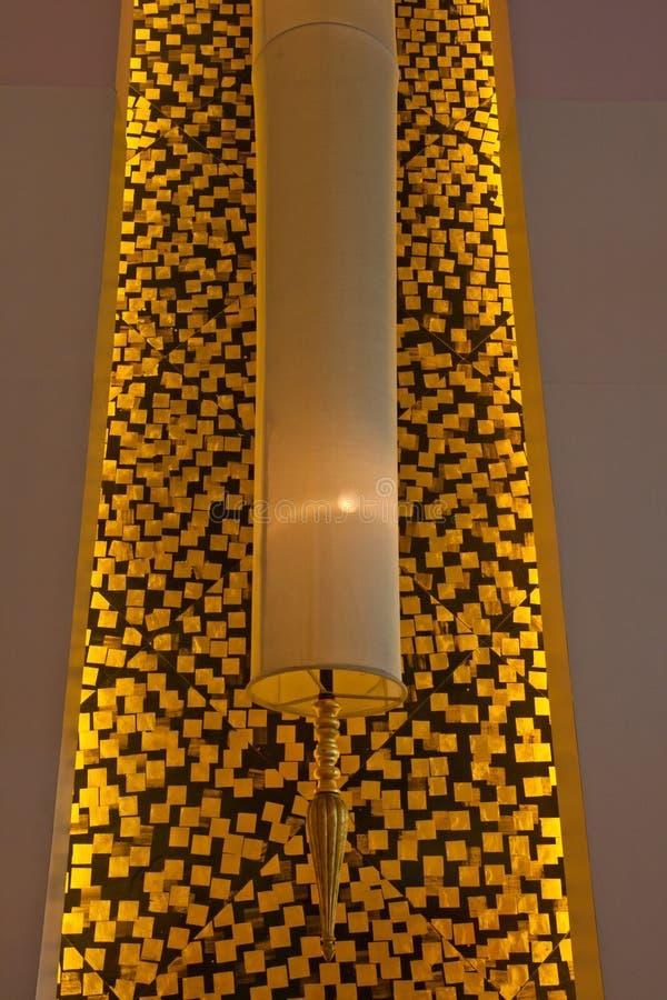Een moderne lamp stock afbeelding