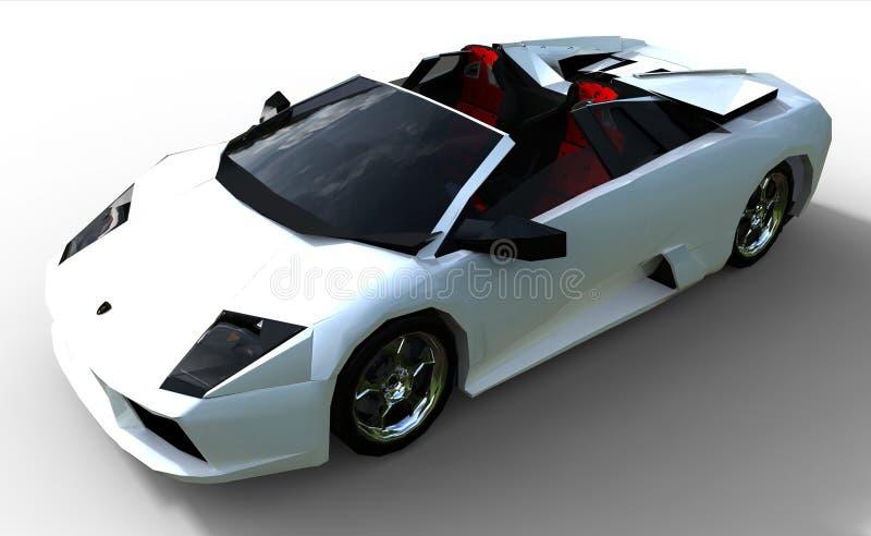 Een moderne sportwagen royalty-vrije illustratie