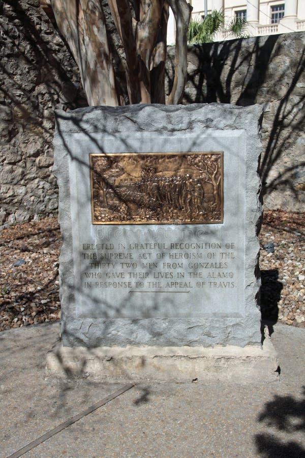 Een Monument aan Hen Die stierf in Alamo royalty-vrije stock afbeeldingen
