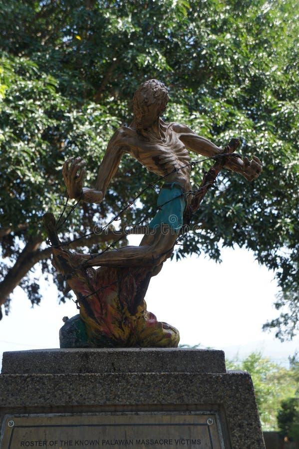 Een monument aan slachtoffers van Wereldoorlog II op het Eiland Cebu Filippijnen royalty-vrije stock foto's