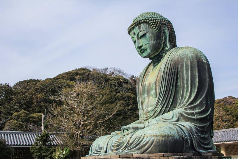 Een monumentaal openluchtbronsstandbeeld van bha Boedha van AmitÄ  royalty-vrije stock afbeeldingen