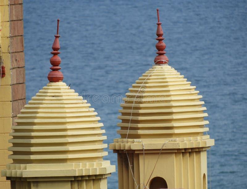 Een mooi behang van de tempeltoren royalty-vrije stock afbeeldingen