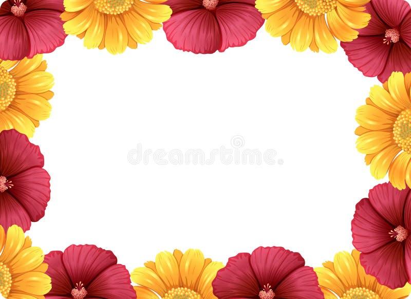 Een mooi bloemkader royalty-vrije illustratie