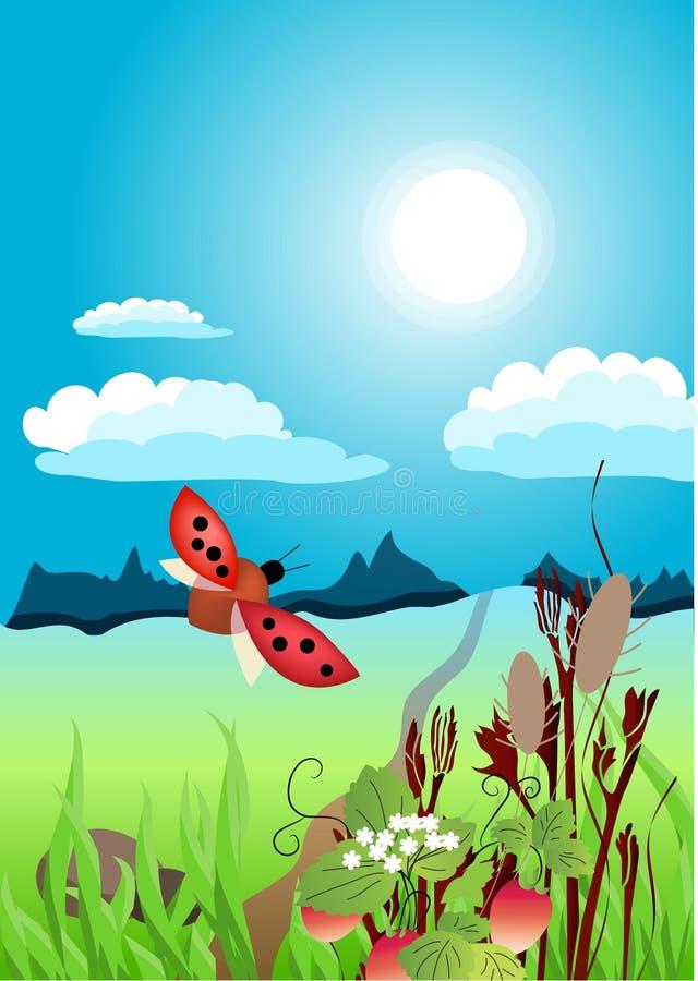 Een mooi de zomerlandschap vector illustratie