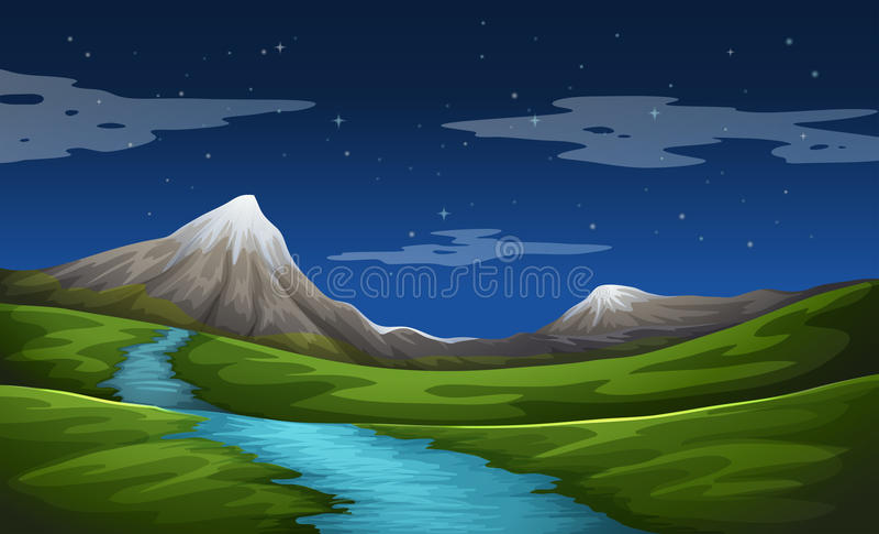 Een mooi landschap royalty-vrije illustratie