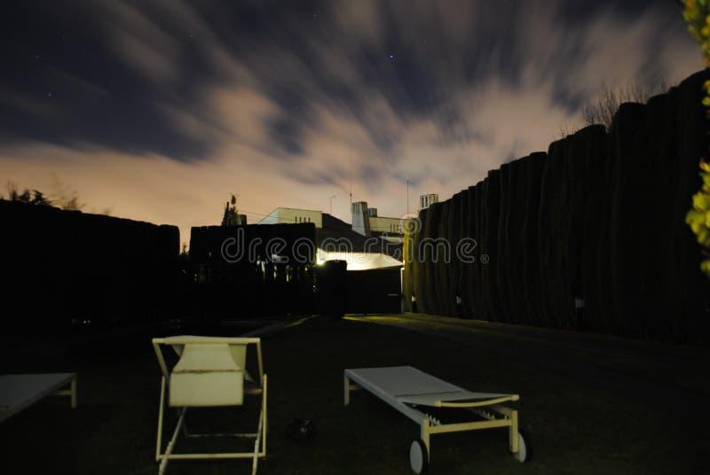Een mooi landschap van een nacht in Madrid royalty-vrije stock fotografie
