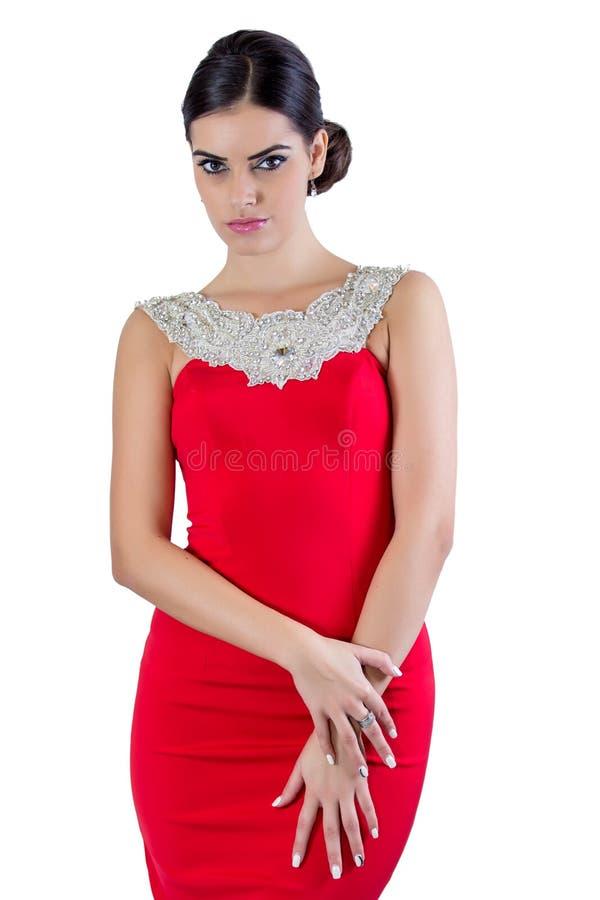 Een mooi meisje in een de zomerkleding royalty-vrije stock foto