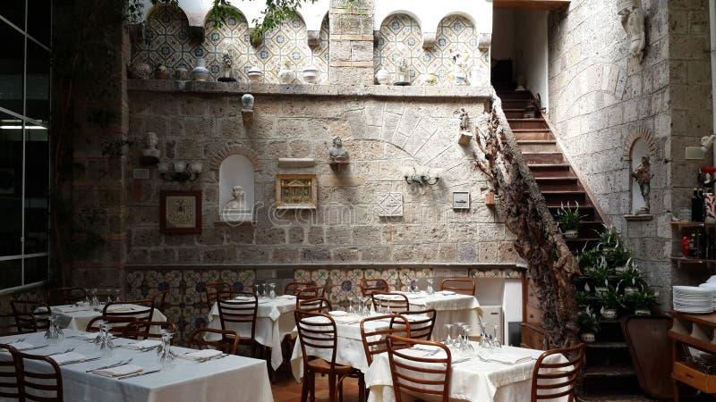 Een mooi trefpunt in Sorrento Italië stock fotografie