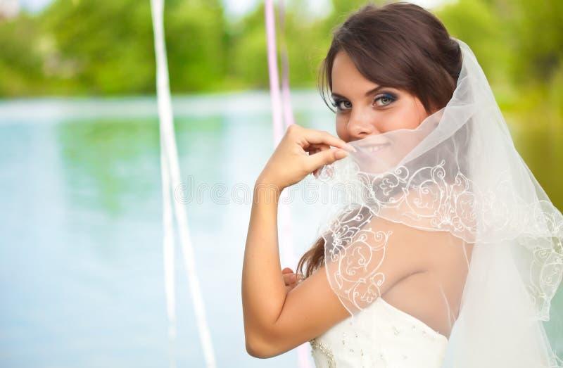 Een mooie bruid royalty-vrije stock afbeeldingen