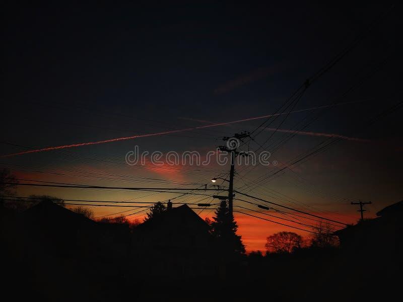 Een mooie Donkere Nacht stock fotografie