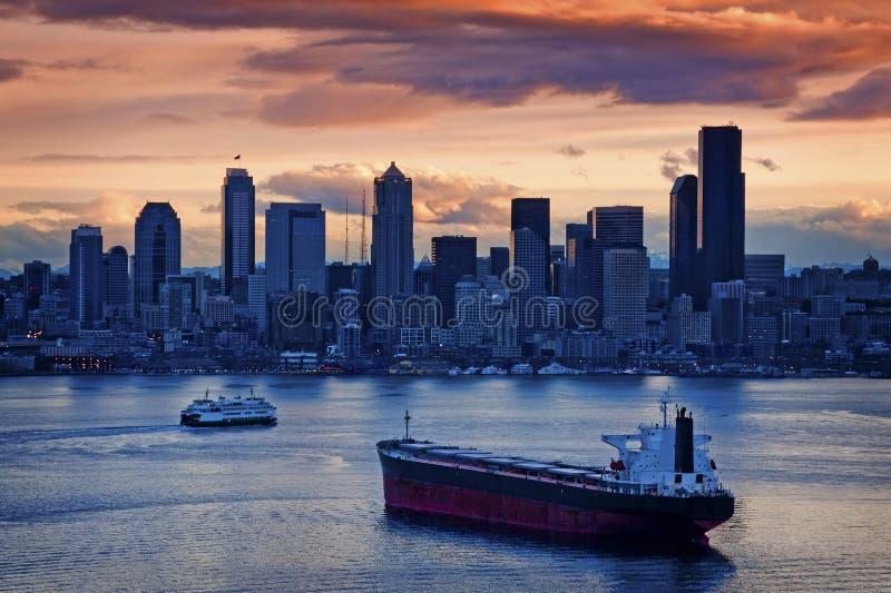 De Zonsopgang van Seattle royalty-vrije stock foto