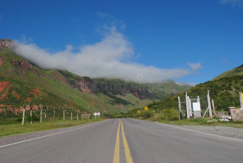 Een mooie landscap in Salta, Argentinië royalty-vrije stock afbeelding