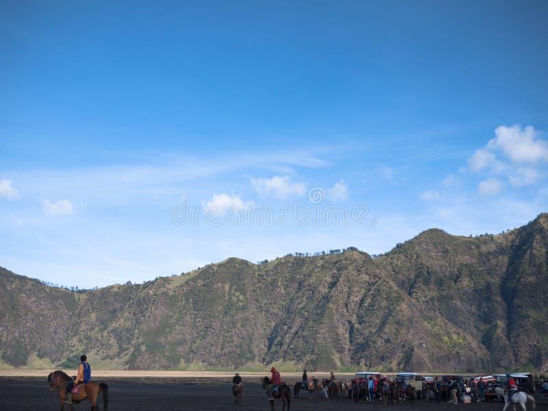 Een mooie mening in Bromo-berg royalty-vrije stock fotografie
