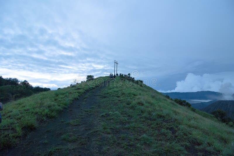 Een mooie mening in Bromo-berg royalty-vrije stock foto's