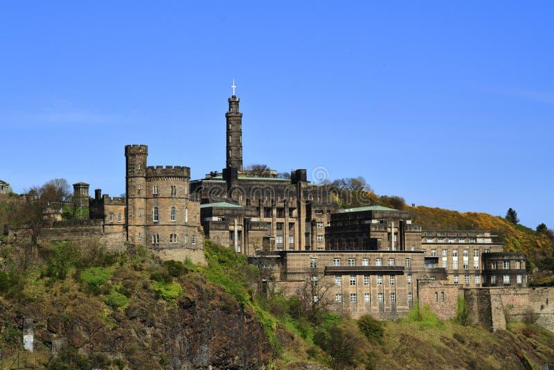 Een mooie mening van Calton-Heuvel in Edinburgh, Schotland royalty-vrije stock afbeelding