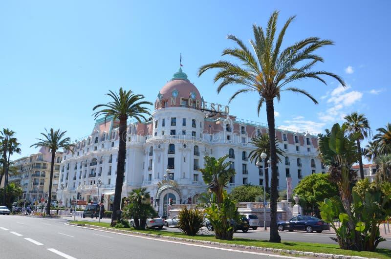 Een mooie mening van de stad van Nice in Frankrijk royalty-vrije stock foto's