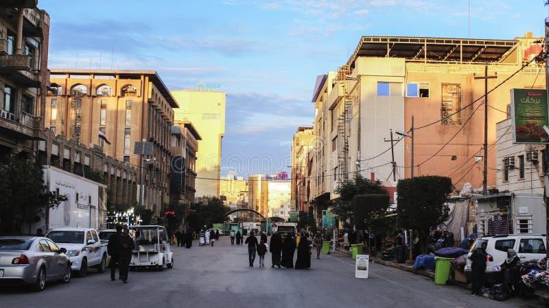 Een mooie Straat in Jeddah, Saudia Arabische HD stock afbeeldingen
