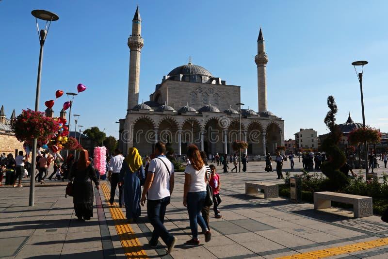 Een moskee in konya royalty-vrije stock afbeeldingen