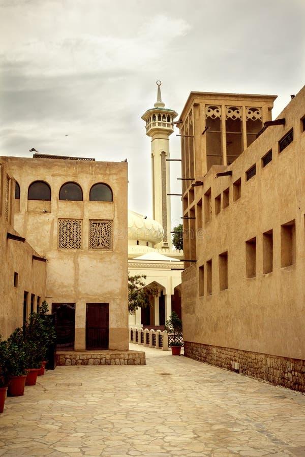 Een moskee in oud Doubai royalty-vrije stock afbeeldingen