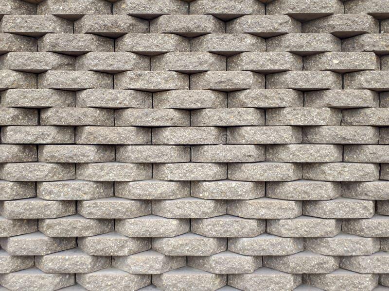 Een muur van grijze steen bricklaying royalty-vrije stock afbeelding
