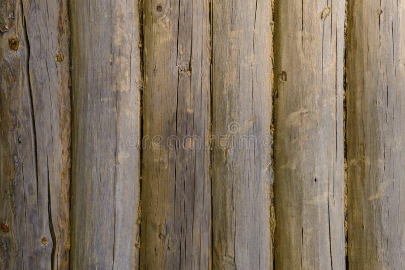 Een muur van oude houten muren royalty-vrije stock fotografie